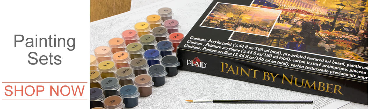 Dimensions, Paintworks, Royal Langnickel, Reeves painting by number paint by number kits