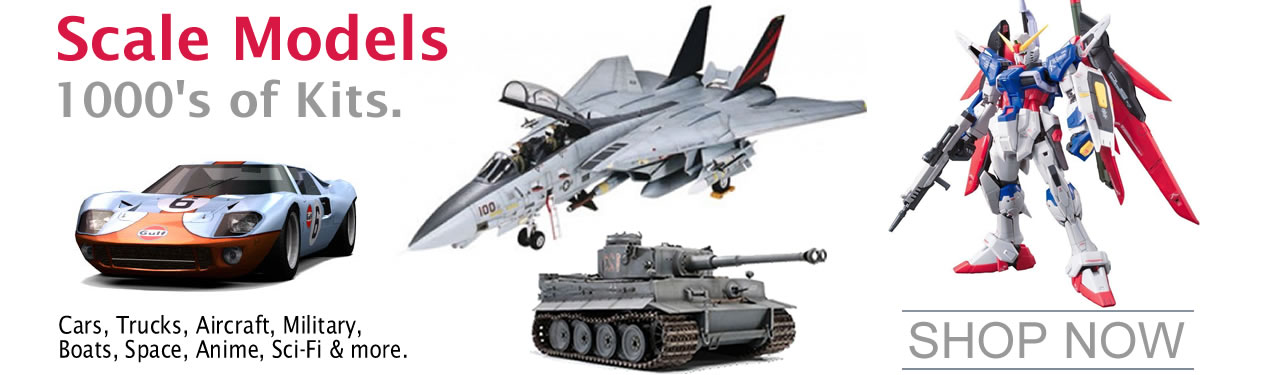 PLASTIC & WOOD MODEL KITS and Model Car, Truck, Boat, Military, Ship, Tank, Airplane, Anatomy Hobby Model Kits
