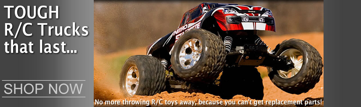 R/C Radio Control Cars, Trucks, Planes, Toys, Boats by Traxxas, Team Losi, HPI, Rokenbok, Flyzone, Hobbico, Proboat